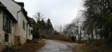 Kasel - Die Weggabelung bei Haus Timpert