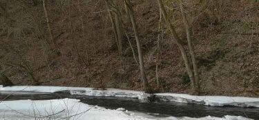 Die Ruwer ist im Winter oft zugefroren
